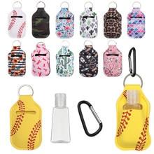 1Set 30ml Nachfüllbare Leere Flaschen Hand Sanitizer Flaschen mit Keychain Halter mit Flasche Abdeckung Tragbare Mini Silikon Flasche