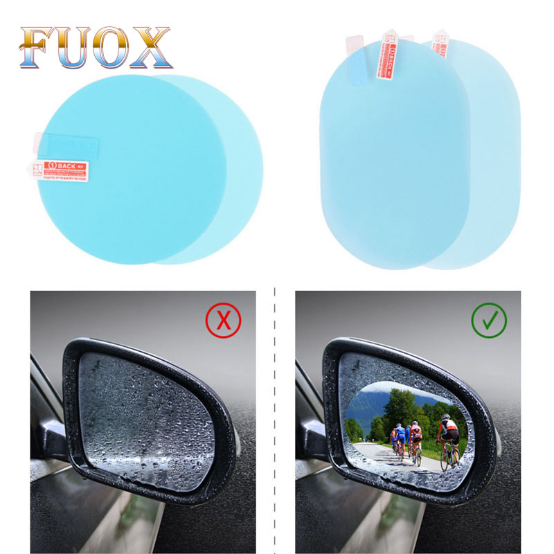 2PCS Anti Fog Film RearView Mirror Protective Film For Car Anti-Rain Antifog Film Auto Rear View Mirror Film Rainproof