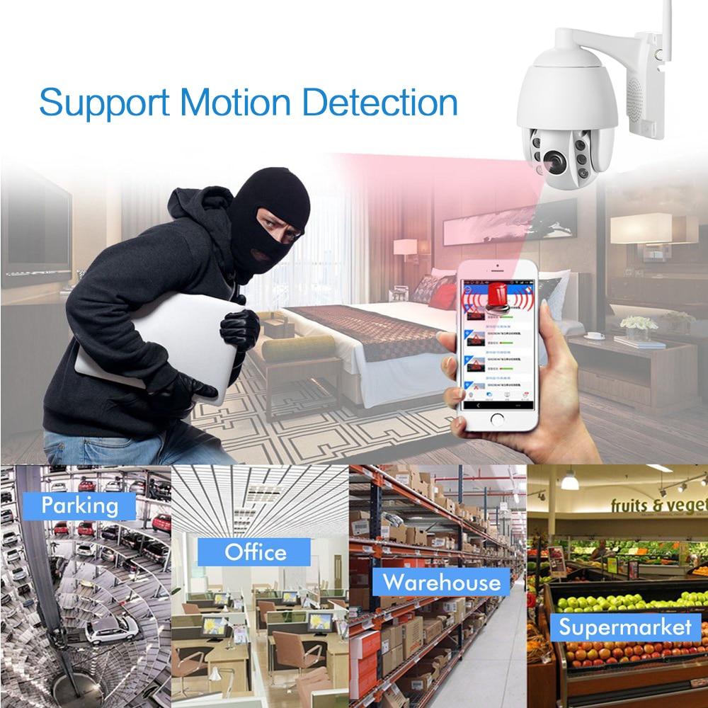Image 5 - 4G 3g Беспроводная PTZ ip камера HD 1080P Открытый водонепроницаемый скоростной купол 5X зум/4 мм объектив двухстороннее аудио p2p CCTV Wi Fi безопасности C-in Камеры видеонаблюдения from Безопасность и защита