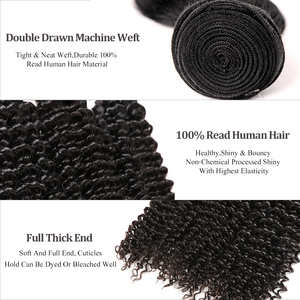 Image 3 - 3Pcs Lot Brazilian Kinky Curly Hair Weave Bundles 100% Unprocessed Human Hair 24 26 28 Inch Curly Double Drawn Raw Virgin Hair