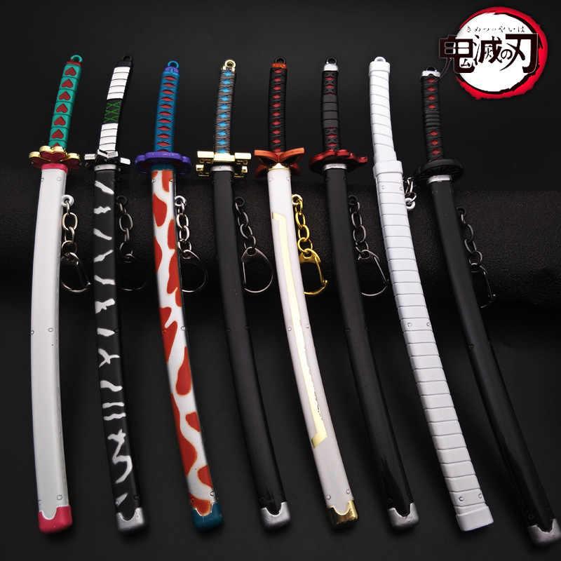 Accessoires de Cosplay pour Anime Demon Slayer, 22cm, roue pour arme Kimetsu No Yaiba Kamado Tanjirou, épée avec gaine, porte-clés