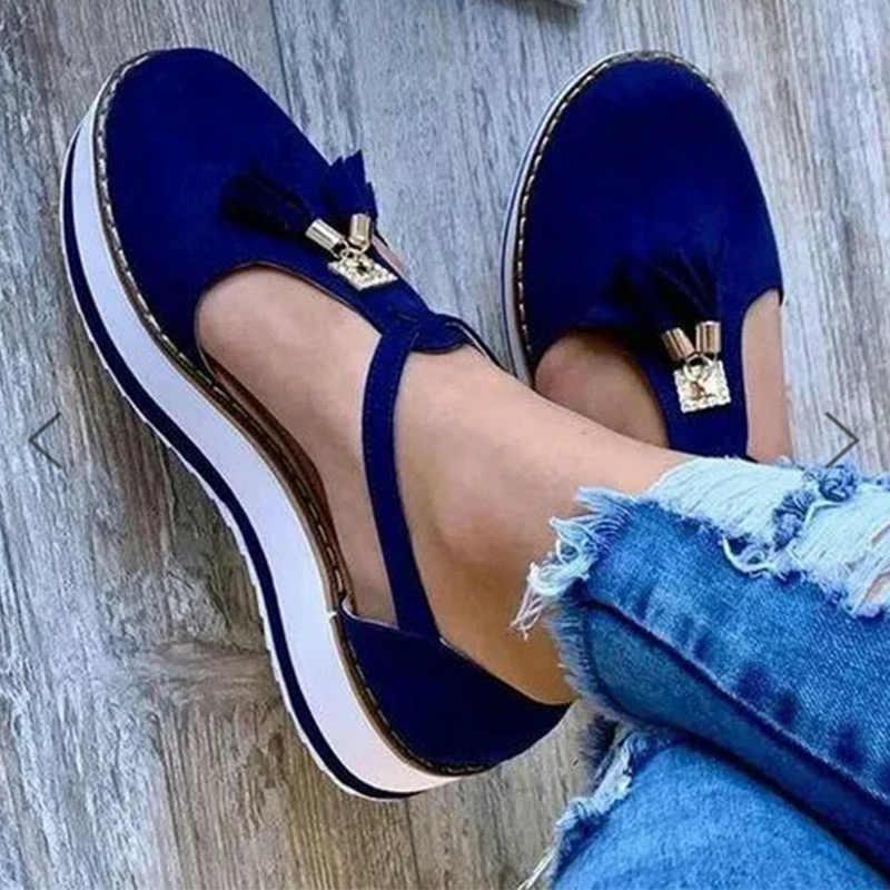 MCCKLE yeni kadın sandalet toka askı akın yaz ayakkabı Chaussures Femme düz platformu Sandalias artı boyutu ayakkabı 2020 moda