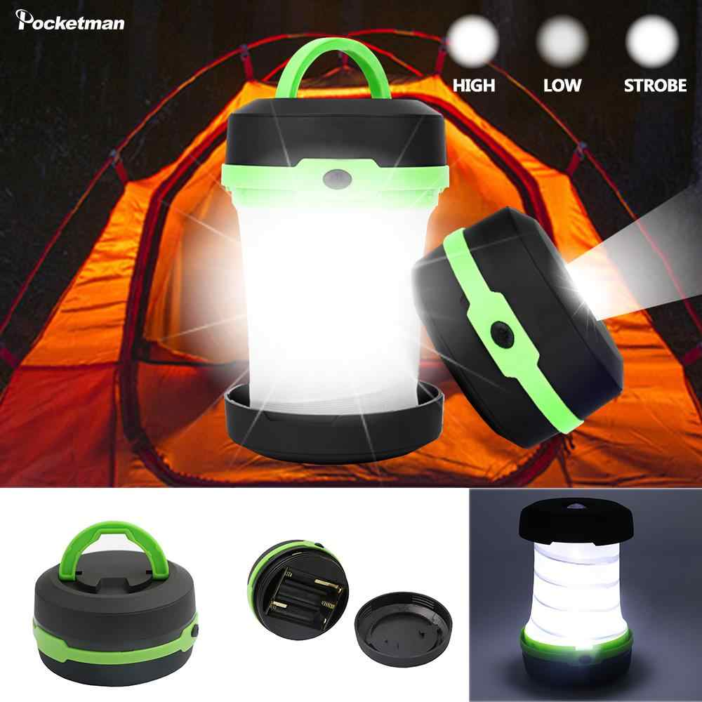 LED wielofunkcyjny teleskopowy składany Camping lekki latarka zewnętrzna Mini namiot awaryjny lekki przenośny kieszonkowy latarka aa