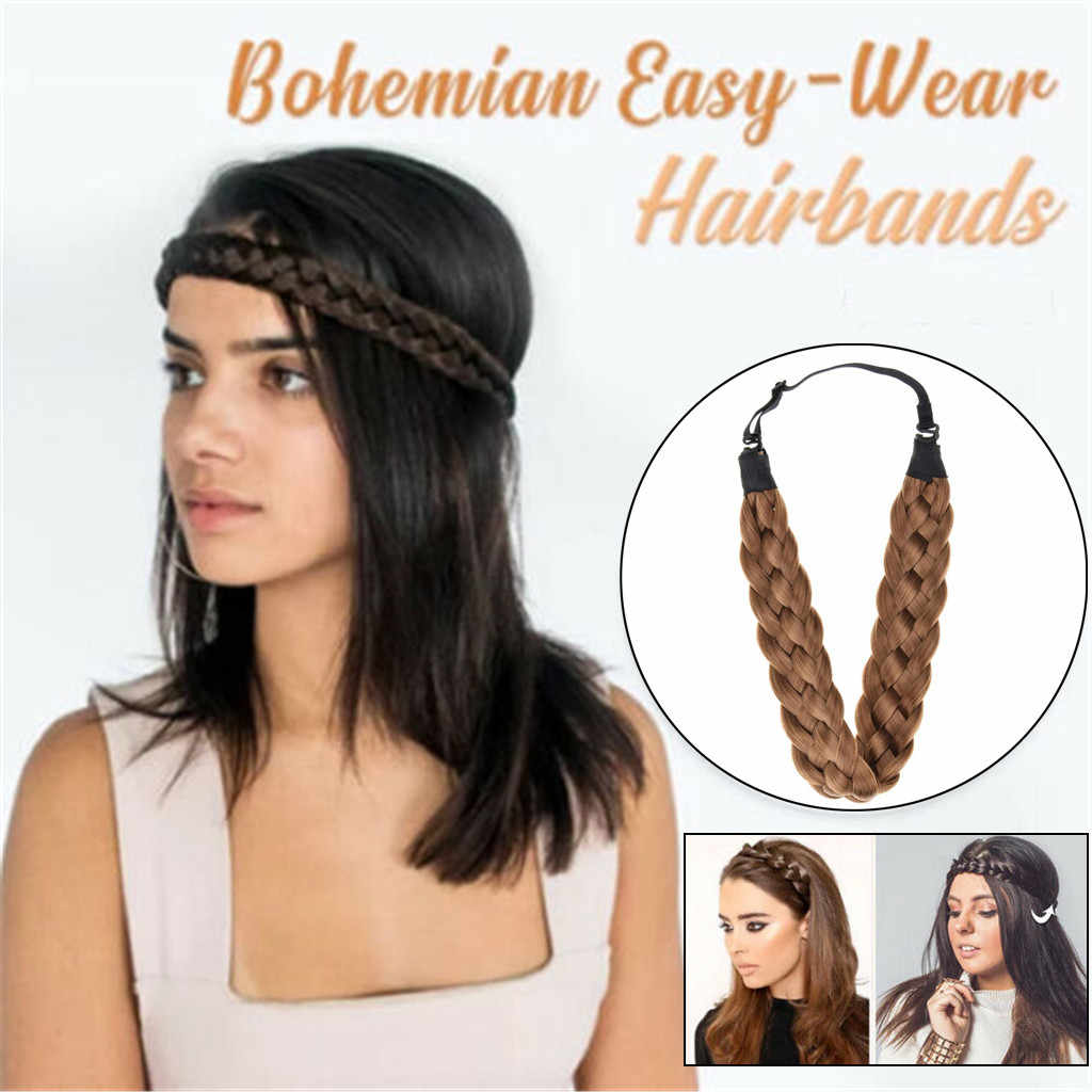 Pelucas sintéticas bandas elásticas para el cabello trenzas bohemias bandas para el cabello para mujeres estiramiento niñas accesorios para el cabello Envío Directo #6