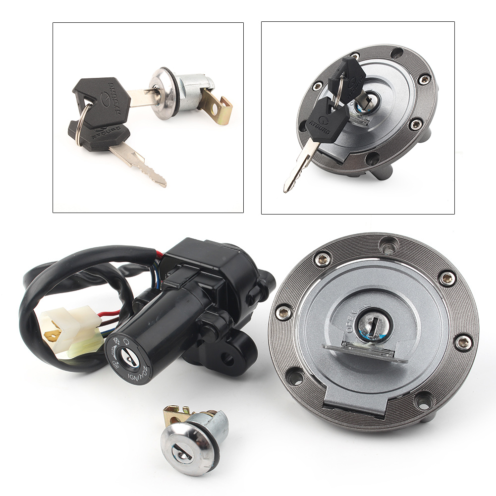 Motorcycle Ignition Switch Lock Assembly Fuel Gas Cap Key Set For Yamaha YZF <font><b>R1</b></font> YZF-<font><b>R1</b></font> 1998 1999 2004 2005 2006 <font><b>2007</b></font> 2008-2012 image