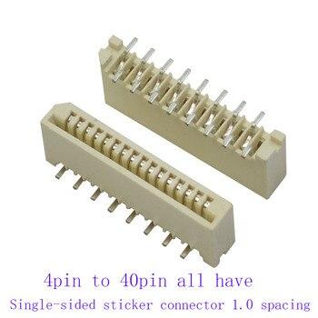100 Uds FPC FFC 1mm 1,0mm 4 5 5 5 6 6 7 8 11 12 13 14 15 16 17 31 32 39 40 Pin contactos duales recto DIP cinta conector plano