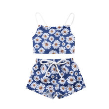baby girl clothes newborn toddler baby girls rompers lace floral overall outfits sunsuit clothes Summer Toddler Baby Girl Clothes Daisy Print Lace Up Tops Shorts 2PCS Newborn Infant Girls Floral Outfits Clothing Set 0-24M