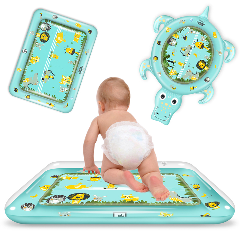 New Designs Baby Kids Water Play Mat Inflatable PVC Infant Tummy Time Playmat Toddler For Baby Activity Play Center Dropshipping