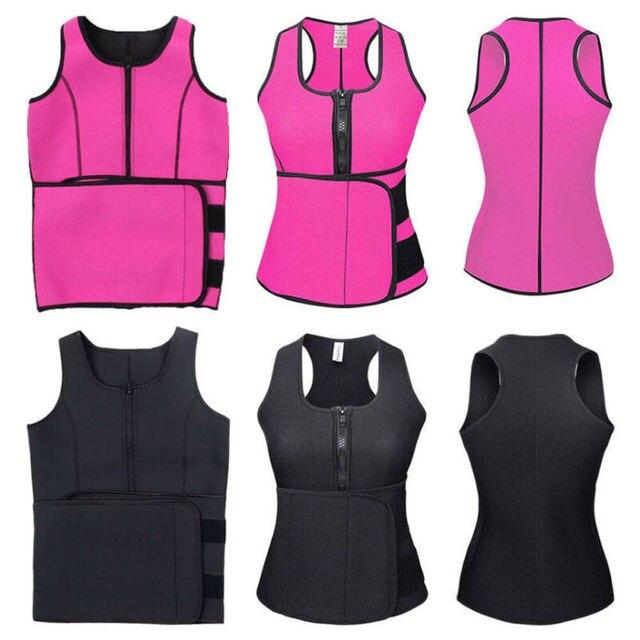 Lady Sauna Waist Trainer Vest Adjustable Slimming Sweat Belt Body Shaper Workout Trimmer Trainer Belt Fitness Shapewear 3