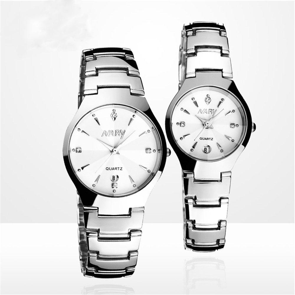 Luxury Brand Watches Men Quartz Business Fashion Casual Watch Full Steel Date Women Lover Couple 30m Waterproof Wristwatches