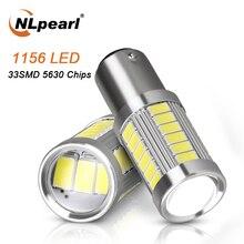 цена на NLpearl 2x Signal Lamp 1156 Ba15s P21w Py21w LED Blub 33SMD 5730 Chips 1157 Bay15d Auto Turn Signal Light Brake Stop Light 12V