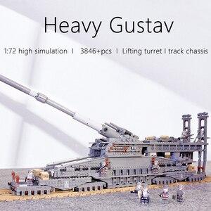 KAZI 10005 3846 шт. строительные блоки, немецкие 80 см K[E] железнодорожное оружие