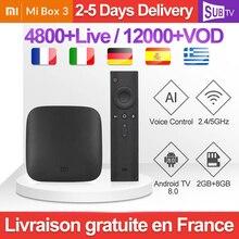 IPTV France Arabic Canada Global Version Xiaomi TV Box 3 Android 8.0 Subscription 4K 2GB 8GB Mi SUBTV