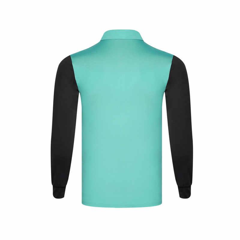 Golf Camicette Degli Uomini di Primavera E di Autunno di Colore Solido Vestiti da Golf Manica Lunga Vestiti da Golf Ad Asciugatura Rapida Traspirante Golf Jersey 2019