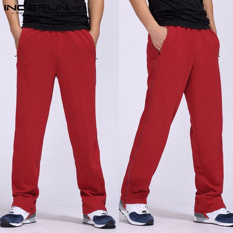 INCERUN New Men Training Pants Running Sports Jogger Jogging Basketball Gym pants Exercise Fitness Long Trousers Loose Bottoms