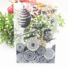Tampon transparent de l'alphabet en forme de ruche, tampon à rouleau en silicone, album, production de cartes, offre spéciale