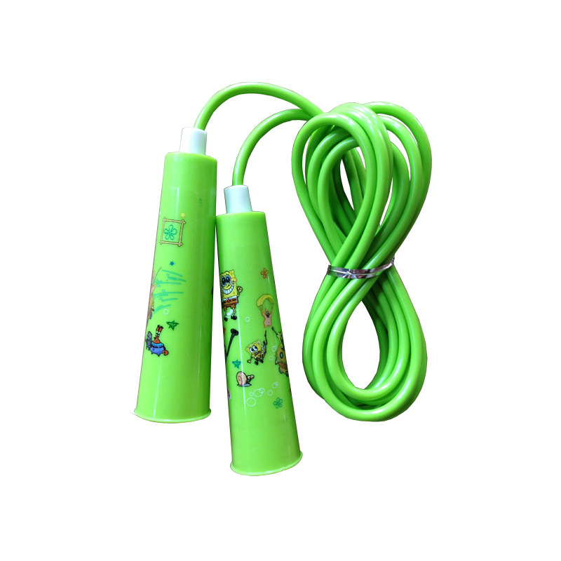 Liang Jian Manufacturers Direct Selling Children Activity Jump Rope Cartoon Big Horn Plastic Handle Fitness Entertainment Sports