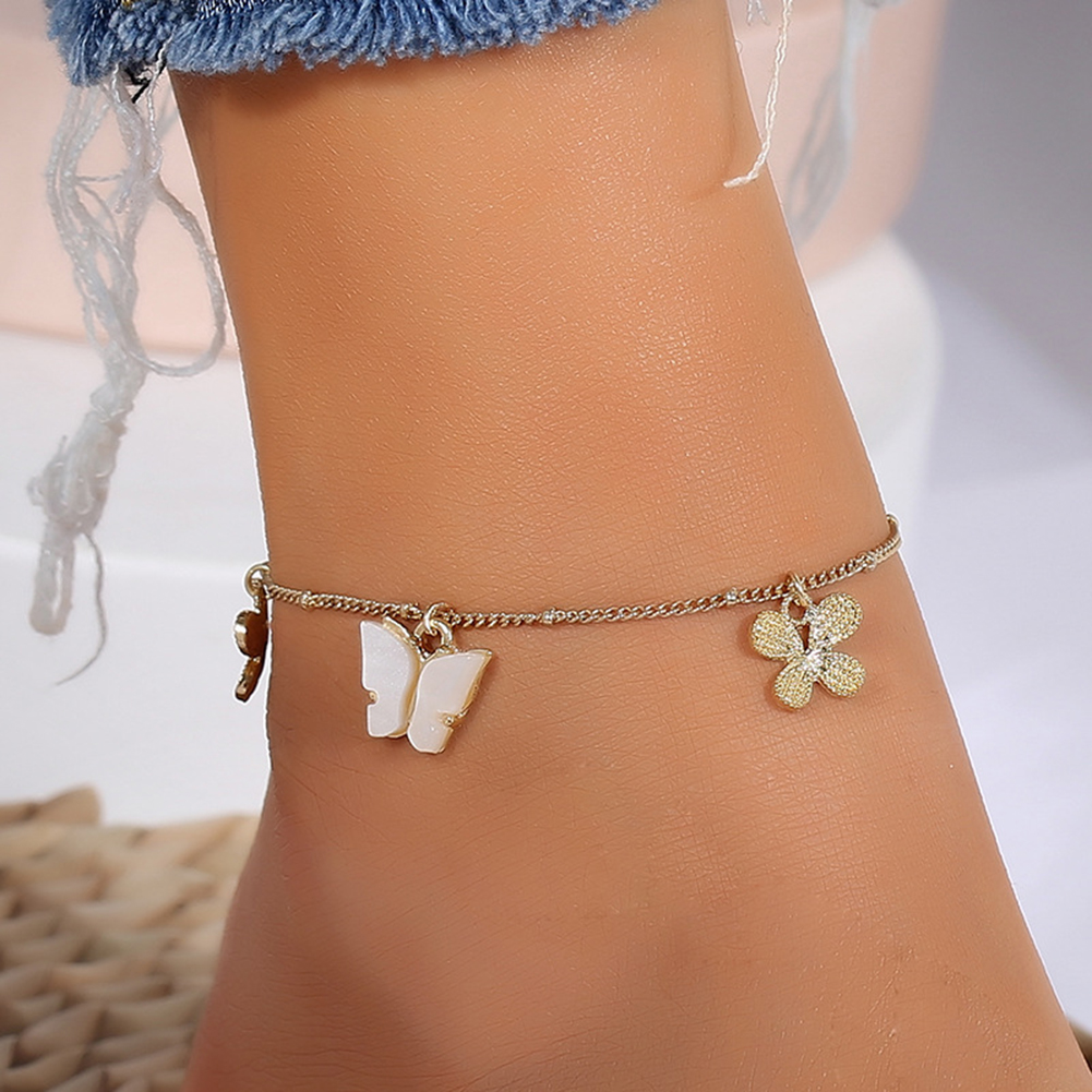 NEW Butterfly ankle bracelet Sweet Foot Chain Pendant anklets for women Charming Beach Holiday Leg Jewelry Gifts браслет на ногу