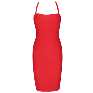Image 4 - Ocstrade Bandage Rayon Dress Autumn Women 2020 New Lace Up Sexy Bandage Dress Red Backless Bodycon Night Club Party Dresses