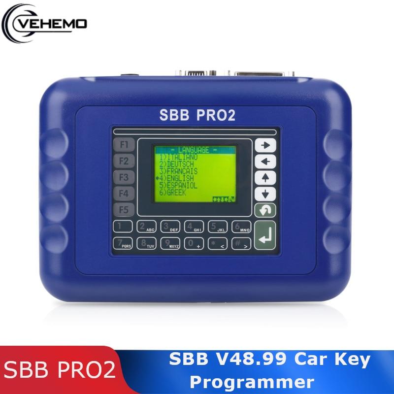 Vehemo Универсальный автоматический ключ программист считыватель автоматический с CD SBB Pro2 V48.99 ключи от автомобилей Caism Автомобильный ключ про