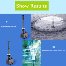 40w Aquarium Fish Pond Led Submersible Water Pump Garden Fountain With Color Changing 220V  fish pond