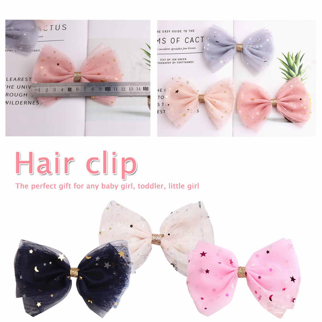 Модные корейские кружевные заколки для девочек с блестящими звездами и бантами для волос ручной работы детская заколка для волос аксессуары для волос