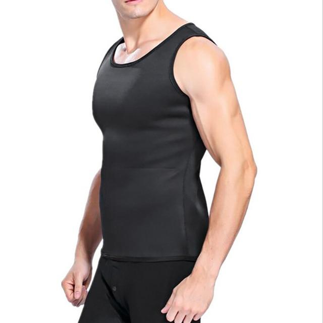 Slimming Belt Belly Men Slimming Vest Body Shaper Neoprene Aben Burning Shapewear Waist Sweat Corset Weight Dropshipping-M 5