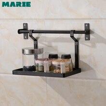 Estante de pared para cocina de acero inoxidable 304, estante de pared para especias, accesorios, organizador, estante de almacenamiento, soporte para botellas, tubo de 60 80cm