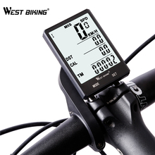 цена на WEST BIKING Waterproof Bicycle Computer With Backlight Wireless Wired Bicycle Computer Bike Speedometer Odometer Bike Stopwatch