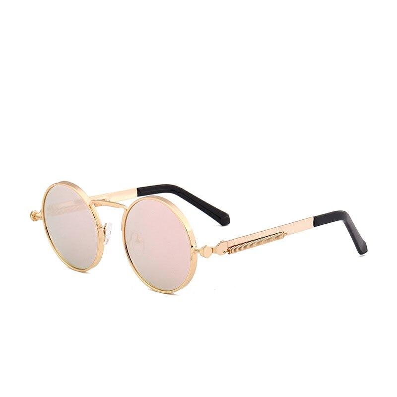 2020 Women's Round Glasses Vintage Sunglasses Driving Mirrors Coating Mirrored Punk Eyeglasses Male Female Oculos De Sol Gafas