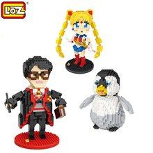 Blocs LOZ, personnage de film magicien, en plastique, jouets éducatifs, bloc de diamants, briques d'action, 9793 9792