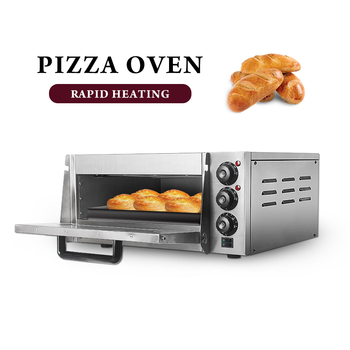ITOP2000W Electric Pizza Oven Cake Roasted Chicken Stainless Steel Baking Machine Single Roasted Oven With Pizza Stone