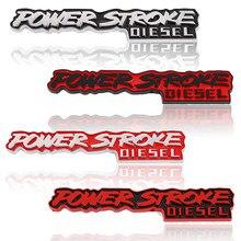 Etiqueta do carro de metal powerstroke emblema emblema tronco decalques para curso de energia logotipo diesel ford excursão 3.0 2018 F-150 f150