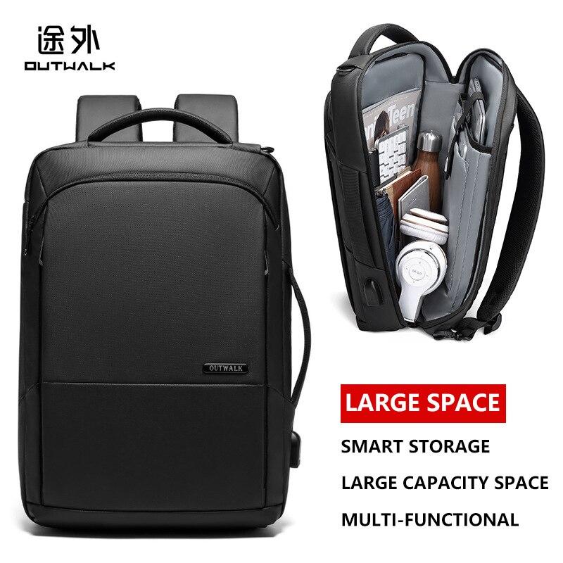 2019 hommes d'affaires sac à dos étanche 14 15.6 pouces mâle sacoche pour ordinateur portable multifonctionnel USB charge voyage sacs à dos hommes