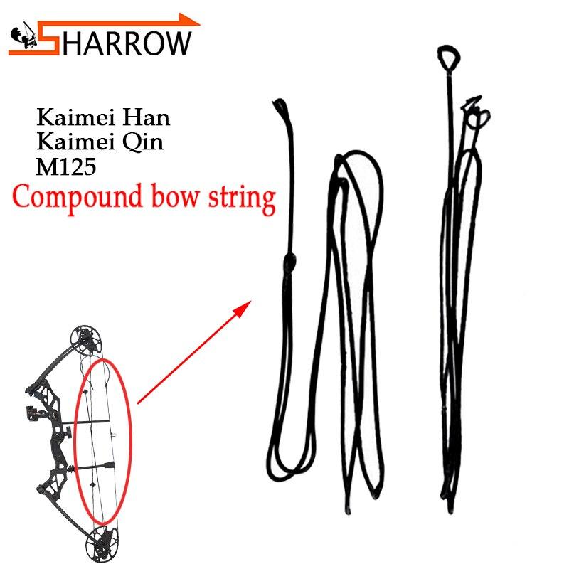 1pc arco de tiro com arco composto corda kaimei qin/kaimei han/m125 bowstring ao ar livre caça arco e flecha tiro corda substituição