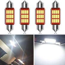 4x C5W Led lampe Lichter Fehler Freies 36mm Girlande CANBUS Für Hyundai Accent Sonata Santa fe Tucson Elantra Auto innen Dome Lampe