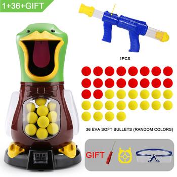 Children's Soft Bullet Gun Score Target Duck Children Shooting Toys Shooter Foam Ball Battle Toy Air Power Air Power Popper Gun