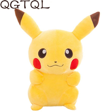 цены 20cm Small Pendant Pikachu Stuffed Soft Animals Plush Toys Doll For Kids Sleeping Back Pillow Cute Baby Accompany Xmas Gift Toy