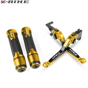 Image 2 - For YAMAHA T MAX TMAX 530 500 TMAX530 TMAX500 2008 2018 Motorcycle Brake Clutch Levers Handlebar grip Handle Hand Grips T MAX