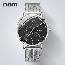 Dom 2018 relógio masculino moda do esporte relógio de quartzo dos homens relógios marca superior luxo negócio à prova dwaterproof água relógio relogio masculino M-511