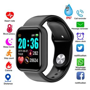 Y68 Men Women Waterproof Heart Rate Blood Pressure Monitor Bluetooth Smart Bracelet for iOS Android Fitness Tracker Smartwatch