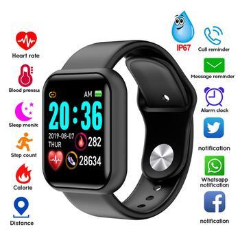 שעון חכם עם דופק לחץ דם צעדים מתחבר לאייפון ואנדרואיד