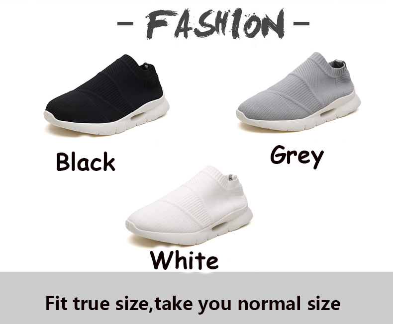 Ha6c17f705554471b9af8573eb7395574u - Men Light Running Shoes Jogging Shoes Breathable Man Sneakers Slip on Loafer Shoe Men's Casual Shoes Size 46