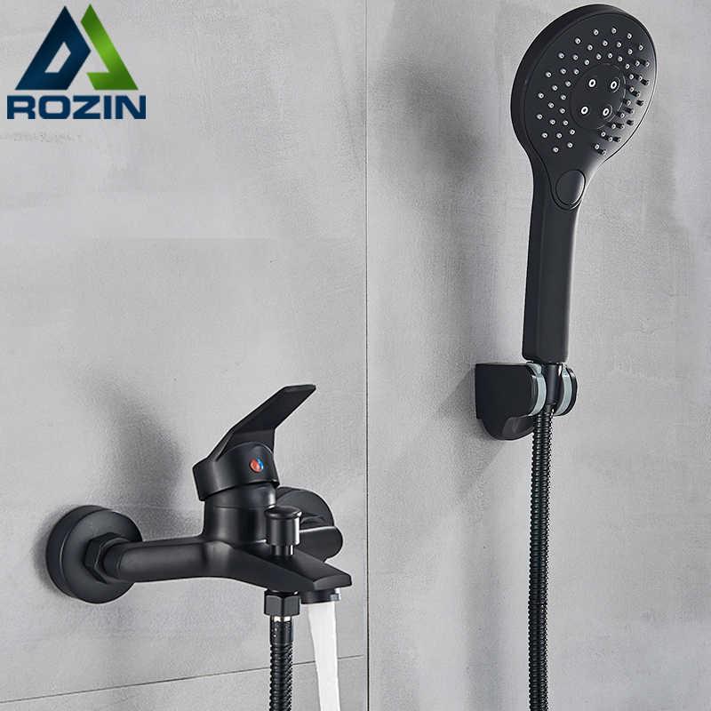 matte black shower faucets wall mount bathroom shower faucets bathtub faucet mixer tap shower mixer valve control valve