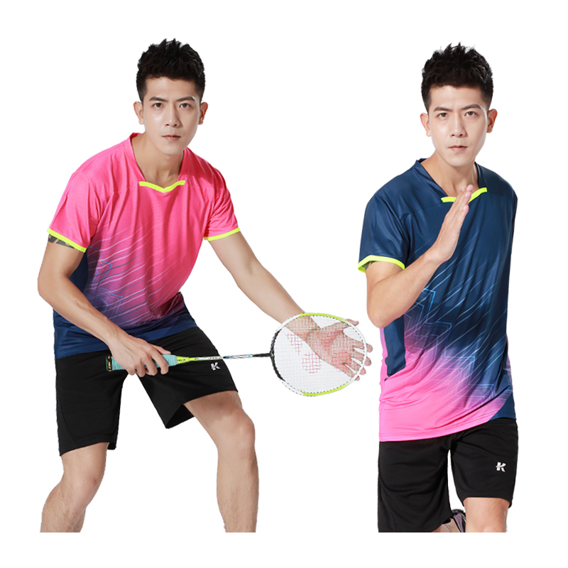 Men's Badminton Competition T-Shirts Breathable Comfort Tops Print Brand Gym Training Shirts Table Tennis Jerseys