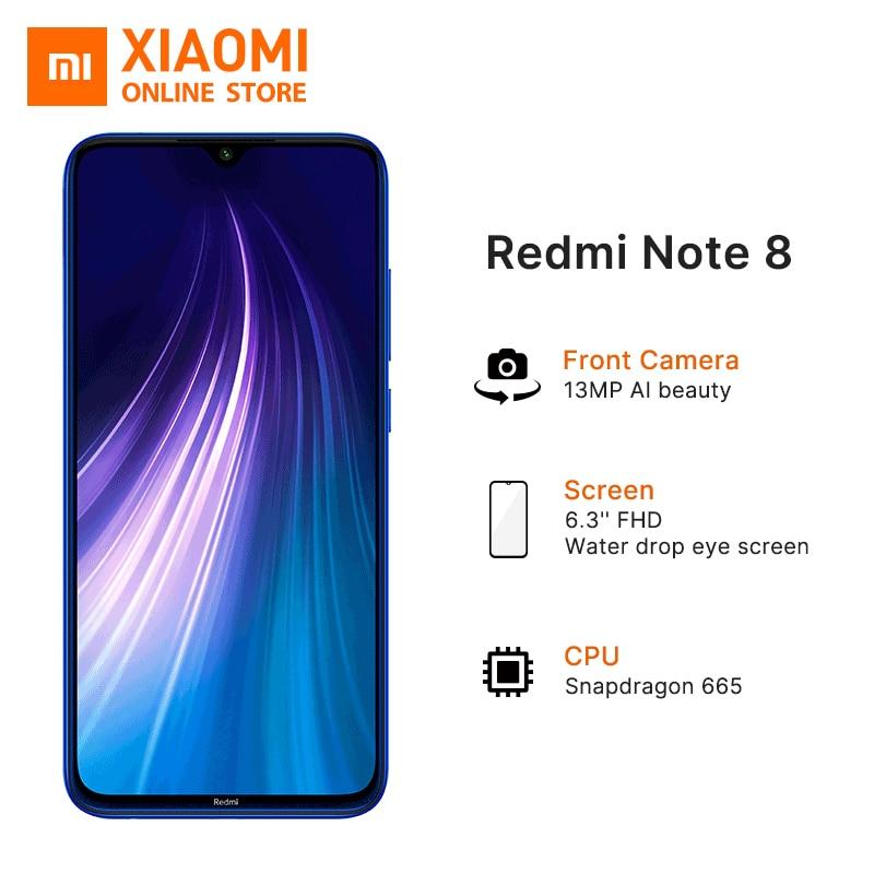 "Global Version Xiaomi Redmi Note 8 4GB 64GB Smartphone Snapdragon 665 Octa Core 4000mAh 6.3"" 48MP Quad Rear Camera Mobile Phone"