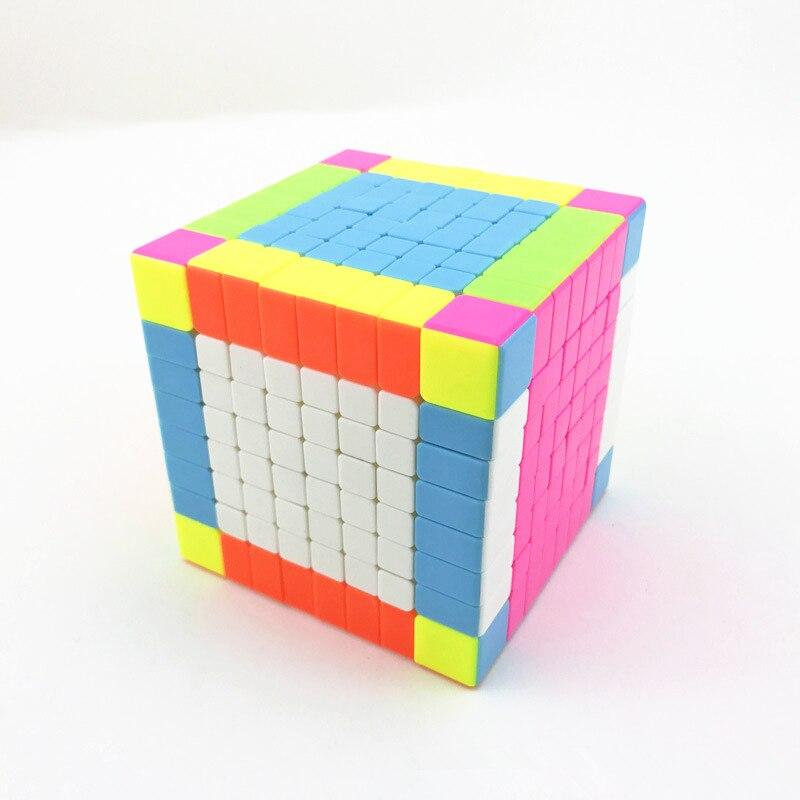 8x8x8 6 côtés Cubes magiques Cube de vitesse professionnel Cubo Magico éducatif jeu de Puzzle cadeau jouet pour enfants adulte Neo Cube magique