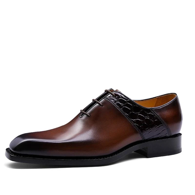 Men Pu Leather Shoes Lace Up Casual Shoes Dress Shoes Brogue Shoes Spring Ankle Boots Vintage Classic Male Casual F264