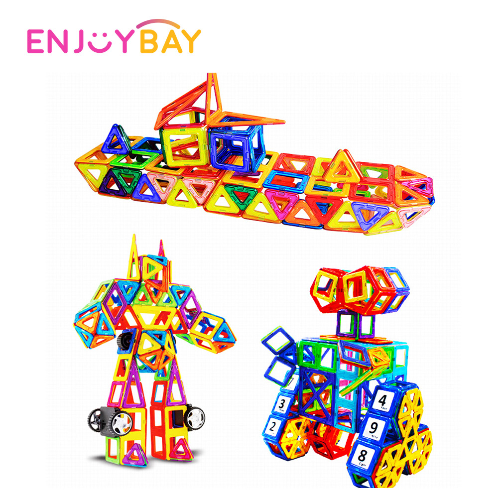Limited Clearance 64pcs Magnetic Construction Blocks Set DIY Building 3D Model Educational Toys Gifts For Kids Ship From Russia