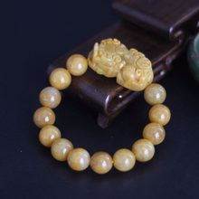 Pixiu – bracelet porte-bonheur en pierre Pi yao, cordon rouge, breloque, amulette, bijoux, 12-13mm, 8/10/12mm
